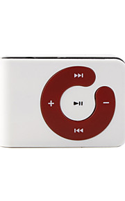 Mini Clip Plug-in Micro SD Card TF Card Reader MP3 Music Player - White