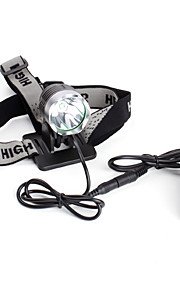 Genopladeligt 5-tilstand Cree XM-l T6 LED forlygte (1200 lumen, batteripakke)