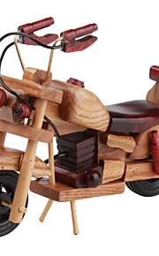 træ motorcykel skrivebord dekoration
