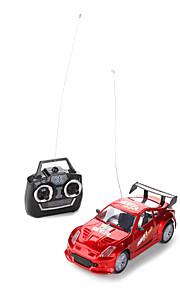 01:24 de rádio carro de corrida de controle (cinza / vermelho)