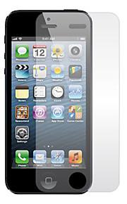 Genomskinligt Displayskydd med Rengöringsduk för iPhone 5