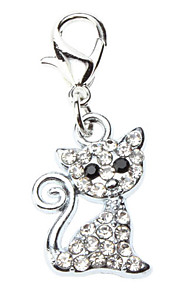 Dog tags Rhinestone Decorated Lovely Cat Style Collar Charm for Dogs Cats