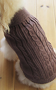 Dog / Cat Sweater Brown Winter Solid