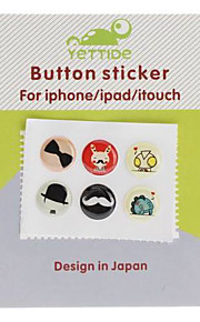 Cartoon pattern Button Home Stickers per iPhone 5 e altri