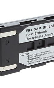 digitale video-batterij te vervangen samsung sb-LSM80 voor samsung sc-d series en meer (7,4 V, 820 mAh)