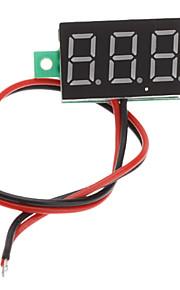 """V20D 0.56"""" LED Two Line 3-Digital Direct-Current Voltmeter Meter Module (White + Green, DC 2.5~30V)"""