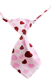 Lovely Heart Pattern Neck Tie for Husdyr Hunder Katter (Neck: 26-38cm)