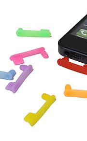 아이폰 5 (무작위 색깔)를위한 3.5mm 한 조각 패턴 반대로 먼지 이어폰 잭