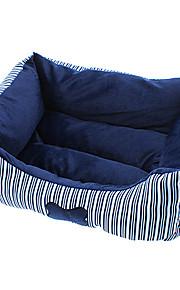 komfortable knogle stribemønster bomuld seng til hunde og katte
