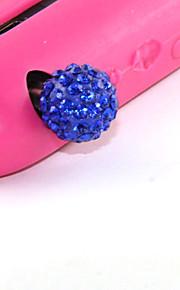 10mm Alu Zirkon Perle Muster Anti-Staub-Stecker (zufällige Farben)