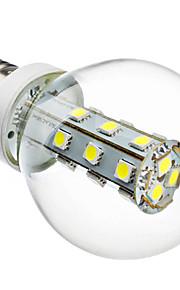 e27 4w 21x5050 smd 240-280lm 6000-6500k varm / naturlig hvitt lys førte ballen pære (220V)