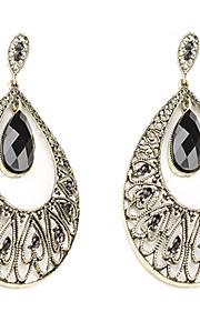 Vintage persisk prinsesse Resin Gem-besat øreringe