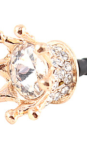 Gullbelagt Zircon Royal Crown Pattern Anti-støv Plug (Golden)