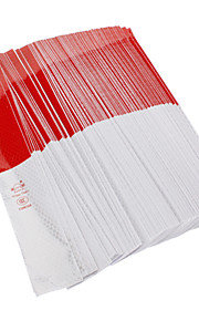 Universal Red-White Pattern Warning Reflective Stickers Protective Films for Cars (130 Pieces)