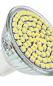 4W E14 / GU10 / GU5.3(MR16) / E26/E27 LED-spotpærer MR16 80 SMD 3528 300 lm Varm hvit / Naturlig hvit DC 12 / AC 220-240 V