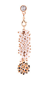Pearl Flower Alloy Chain Zircon Anti-dust Plug
