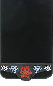 아이폰 4/4S/5를위한 두개골 비키니 패턴 버튼 커버