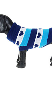 British Style Hearts Pattern Sweater for Pets Dogs (Assorted Sizes)