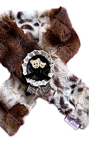 Cool Warm Fur Scarf with Bear Pattern for Pets Dogs Cats (Assorted Sizes)