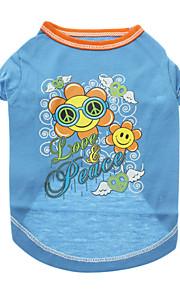 Hunde T恤衫 Blå Sommer Blomster / botanik
