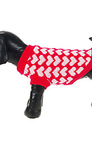 Cute Hearts Pattern Warm Comfortable Sweater for Pets Dogs (Assorted Sizes)