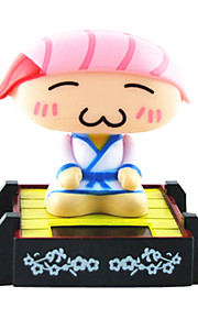 Solar Powered Sushi Chef Shaking chef Toy Pink Sushi chef