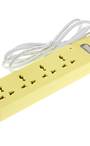 Uitbreiding Socket met 1.8M US AC Power Cable Yellow