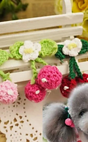 Lovely Cherry Hairpin for Pets Dogs(Random Color)