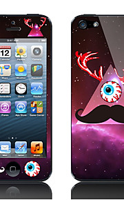Mustache and Eye Pattern Decorative Film for iPhone 5