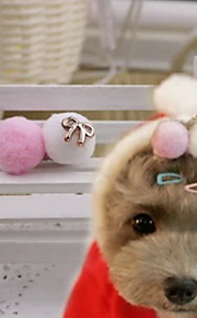 Cute Round Shaped Hairpin for Pets Dogs (Random Color)