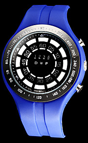 Masculino Relógio Esportivo Quartzo Japonês LED / Calendário / Impermeável Borracha Banda Preta / Azul marca-