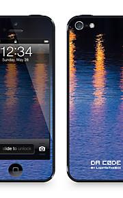 """Da Code ™ Skin voor iPhone 5/5S: """"Reflected River Lights"""" (Nature Series)"""