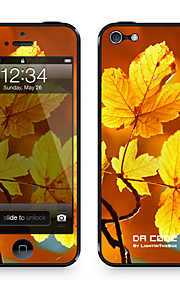 "Codice Da ™ Pelle per iPhone 4/4S: ""Autumn Leaves Giallo"" (Piante Series)"