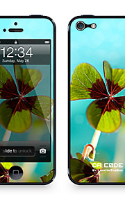 """Da Code ™ Skin voor iPhone 5/5S: """"Klaver Bladeren"""" (Planten-serie)"""