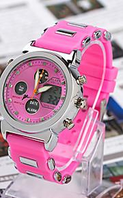 Masculino Relógio Esportivo Digital Cronógrafo Banda Branco / Azul / Vermelho / Laranja / Rosa / Roxa / Rose marca-