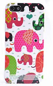 조이 랜드 다채로운 만화 코끼리 본 아이폰 5/5S (분류 된 색깔)를위한 케이스를 위로 ABS