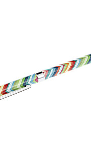 Rainbow Arrow Pattern Deluxe High-Sensitive Clip Stylus Pen Sync Ballpoint Pen for iPad and Others