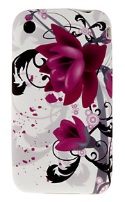 Beautiful Wisteria Pattern TPU Case for iPhone 3/3S