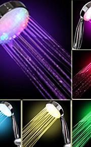 Vann Flow Power Generation Gradvis fargeendringen LED hånddusj