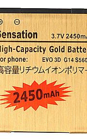 2450mAh da bateria do telefone celular para BG86100 EVO 3D AMAZE 4G 35H00166-01M, HTC Evo 3D/Tmobile Amaze 4G Sensation 4G/G14