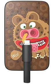 OUNUO 3200mAh Exquisite Craft Cute Bears Pattern 7mm Thickness External Battery with Built-in 8-Pin Cable