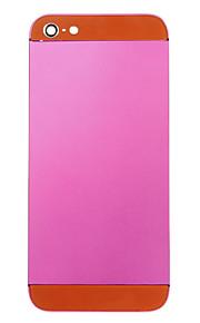 Fuchsia Liga de Metal Voltar Bateria Caixa com vidro laranja para iPhone 5