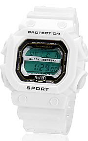 Masculino Relógio Esportivo Digital LCD Banda Preta / Branco / Laranja marca-