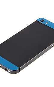 Gray Hard Metal Alloy Tillbaka Batterihus med lila glas För iPhone 5s