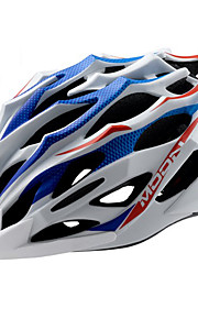 MOON bicicletta Blu + Bianco PC / EPS 28 Vents MTB Helmet