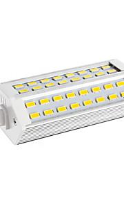 12W R7S LED-kornpærer T 48 SMD 5730 2400 lm Varm hvit AC 220-240 V