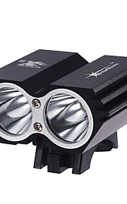 Lâmpadas Frontais LED 3 Modo 2000 Lumens Prova-de-Água / Recarregável / Super Leve / Tamanho Compacto / Tamanho Pequeno Cree XM-L2 T6