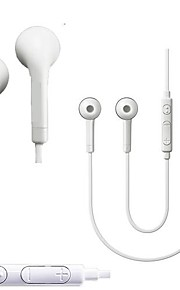 High Sound Quality White In-ear 3.5 mm Volume Control Earphone for Samsung Galaxy S2/S3/S4 i9500