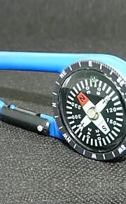 Outdoor Portable Plastic Carabiner  Compass - Blue