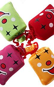 Empurre e Laugh Sorrindo Joke Prático Rosto Bag Stress-apaziguador (cor aleatória, 8x7x3cm, 1PCS)